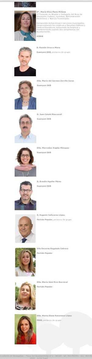 concejales oposicion web municipal