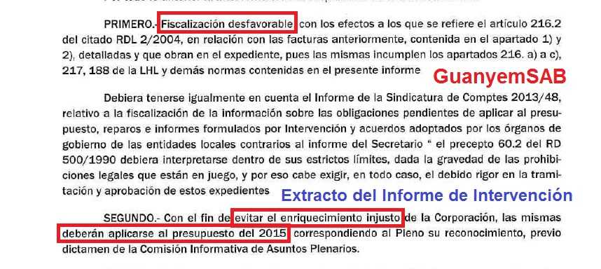 Informe intervencion desfavorable 1