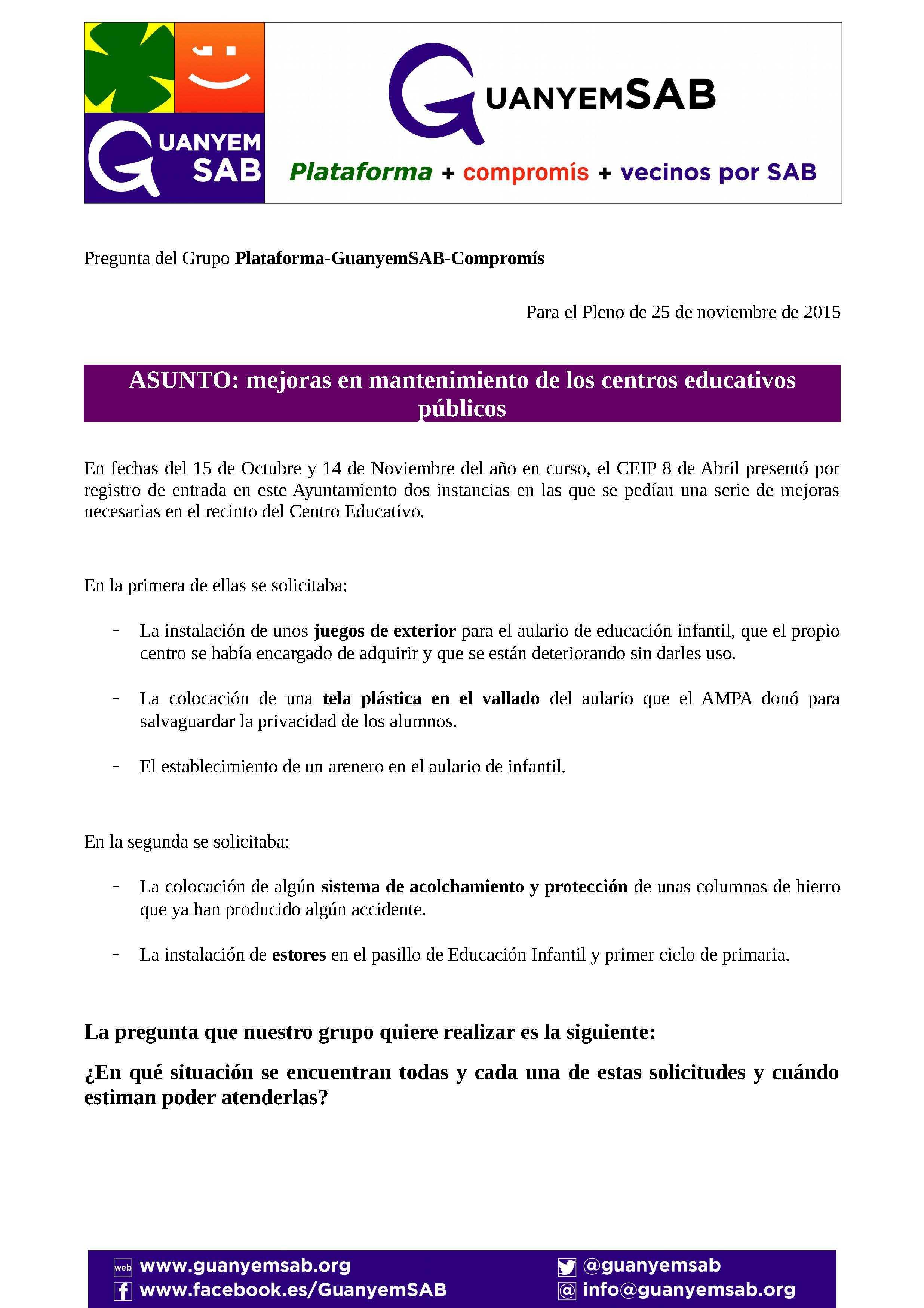PREGUNTA Y RUEGOS SOBRE MEJORAS EN COLEGIOS_Página_1
