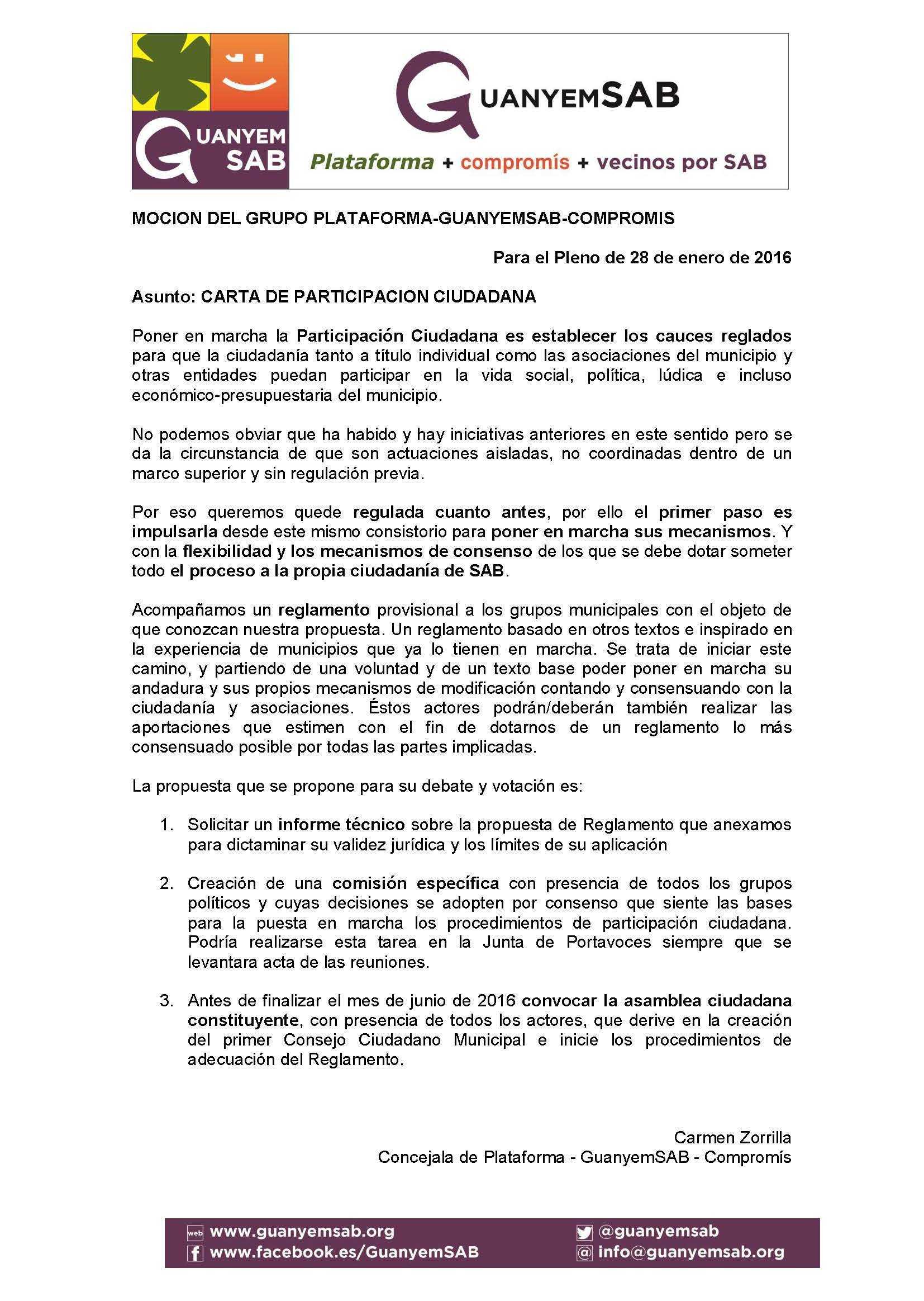 4 - MOCION CARTA DE PARTICIPACION CIUDADANA