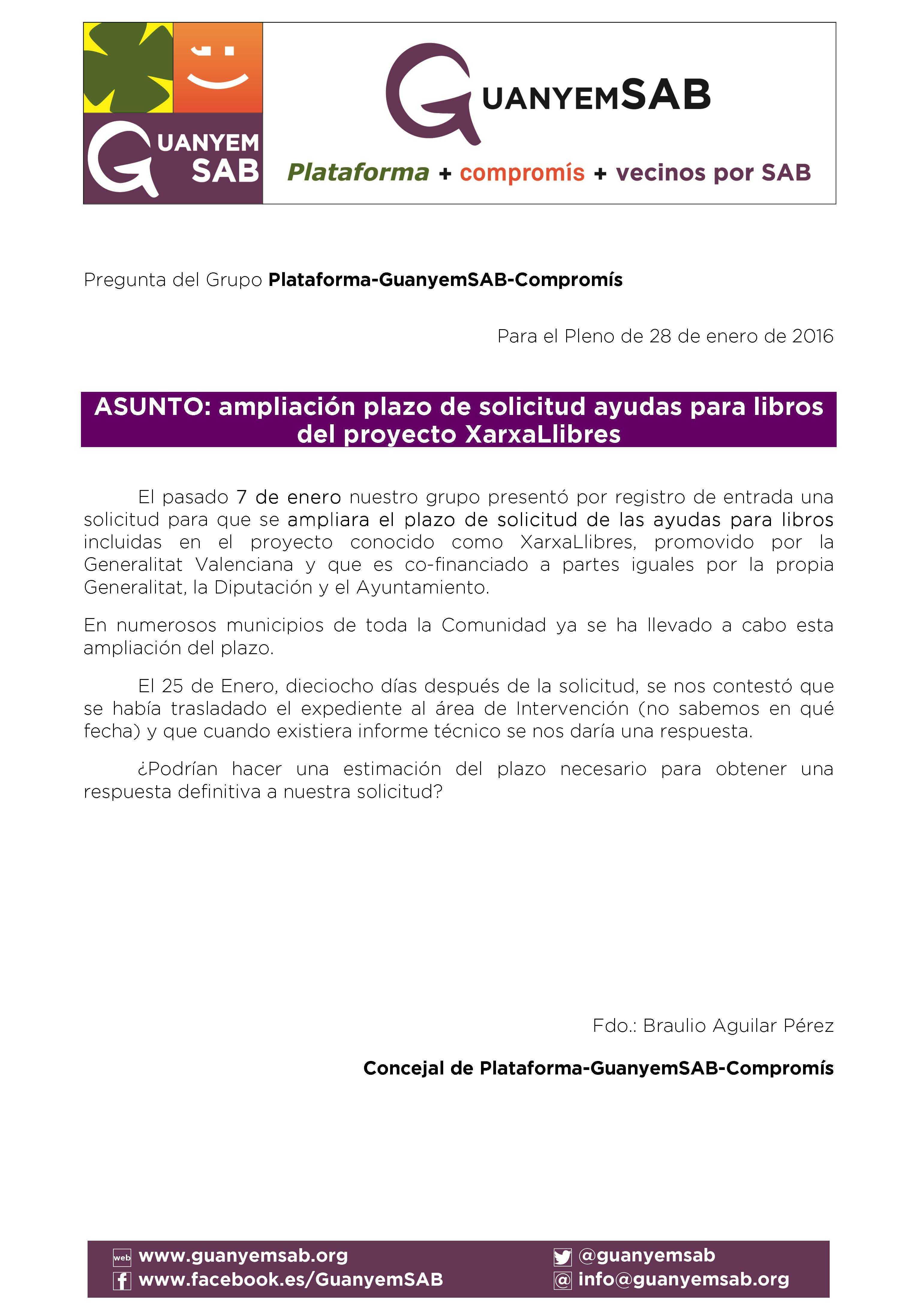 7 - PREGUNTA ampliacion plazo xarxa llibres