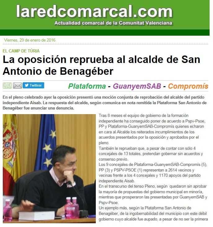 la red comarcal reprobacion alcalde sab
