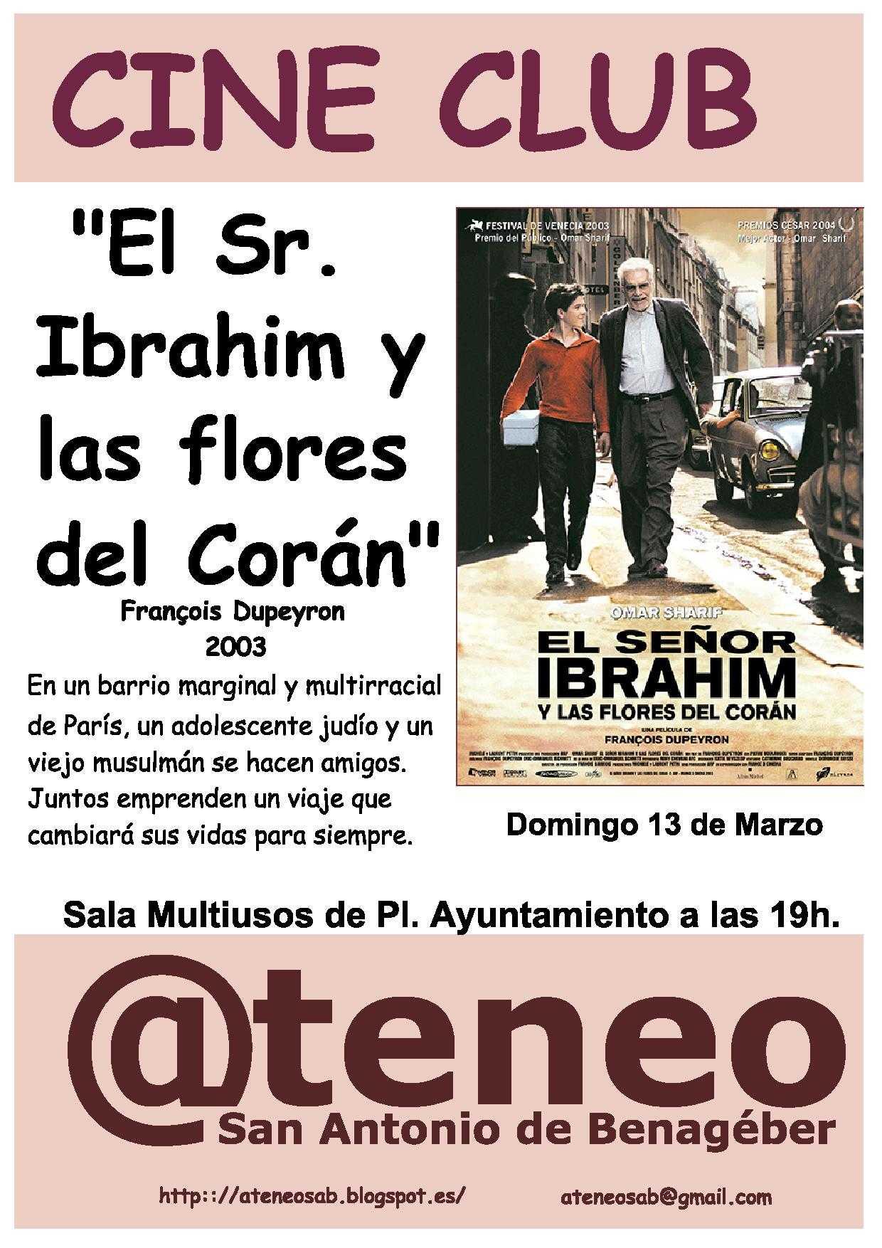 CINECLUB el Sr. Ibrahim