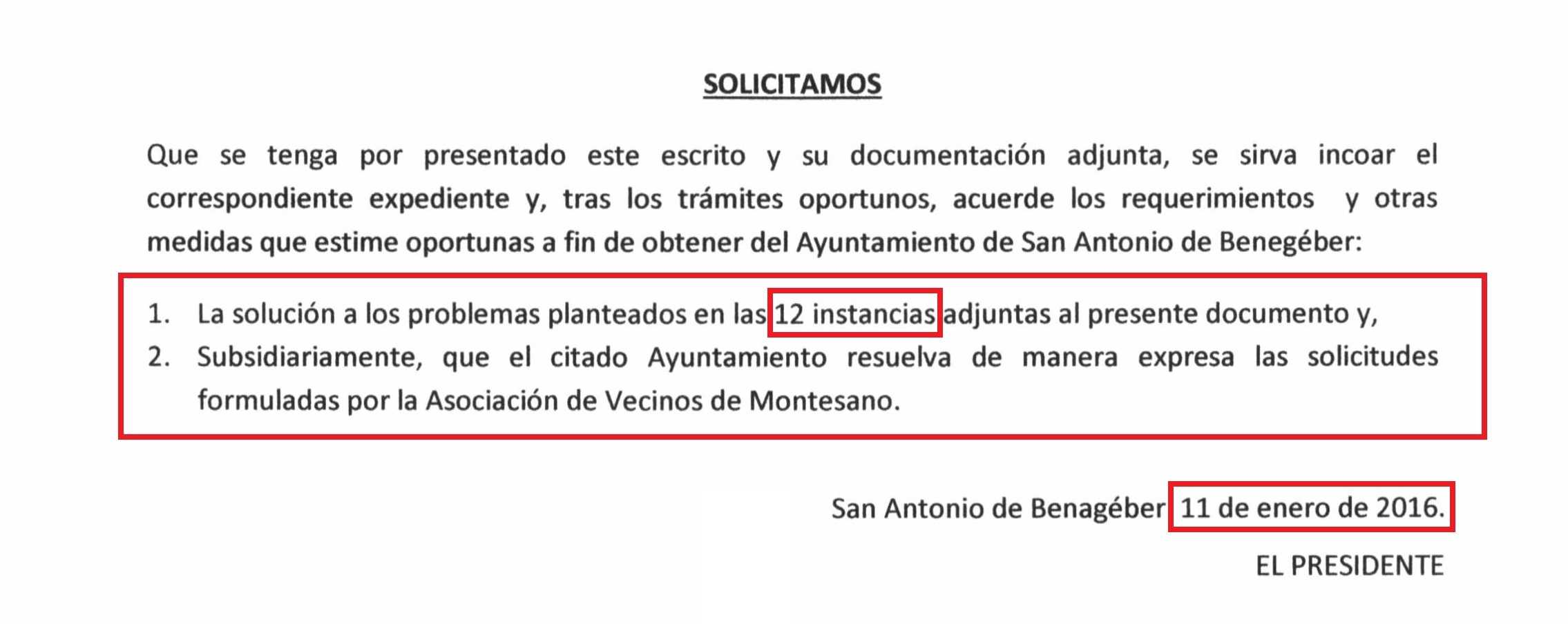 PIE DENUNCIA ANTE EL SINDIC GREUGES MONTESANO