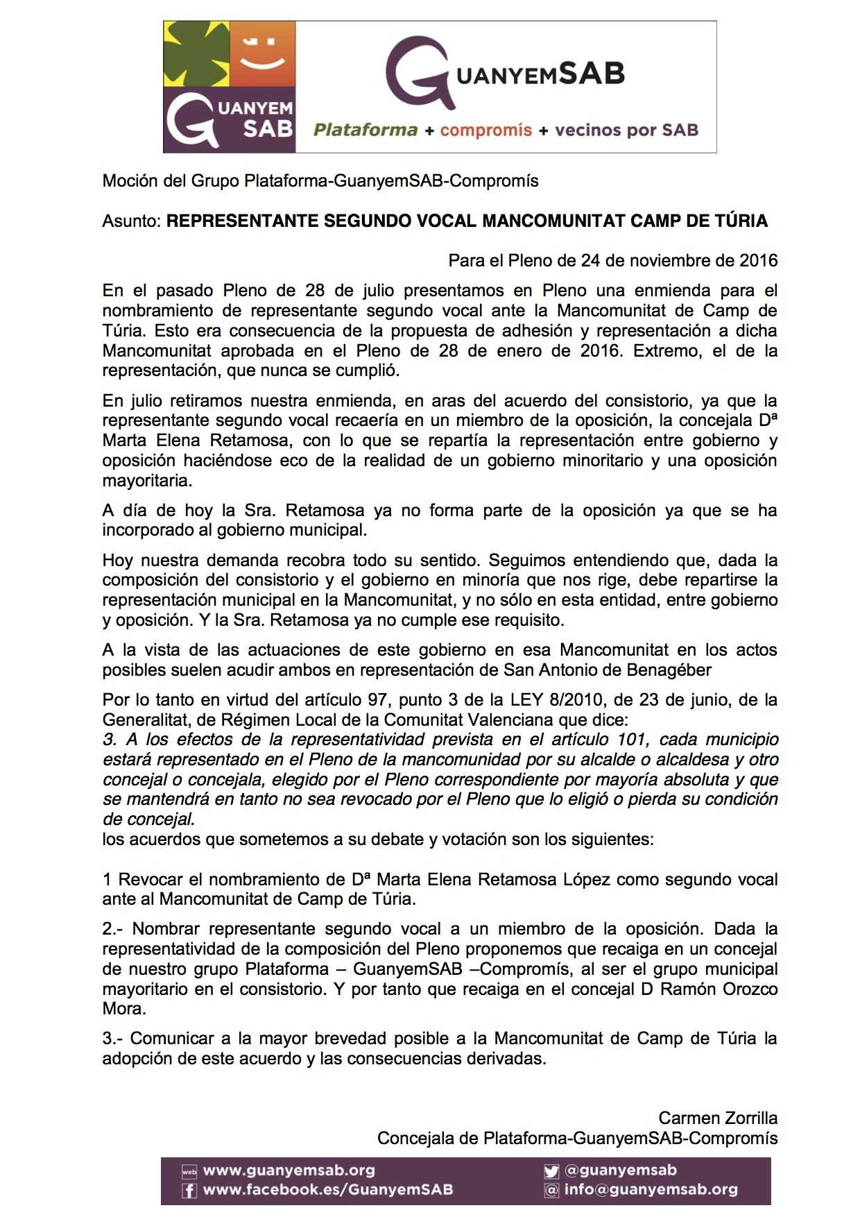 06-mocion-propuesta-representante-suplente-mancomunitat-camp-turia-nov-2016