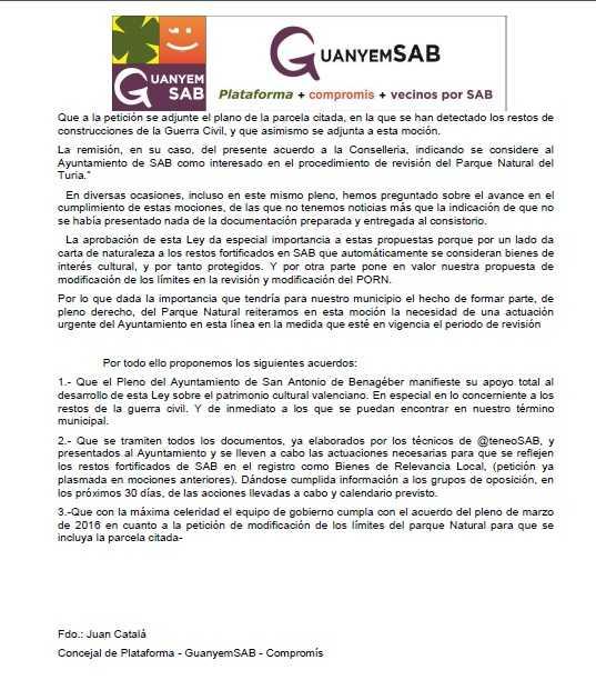 APOYO A LEY PATRIMONIO CULTURAL VALENCIANO pag 2