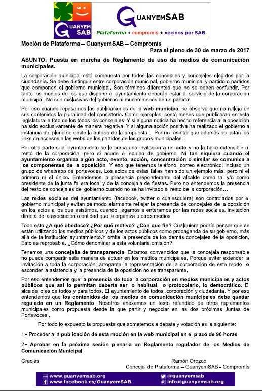 FOMENTO DE PARTICIPACION CIUDADANA EN EL PLENO