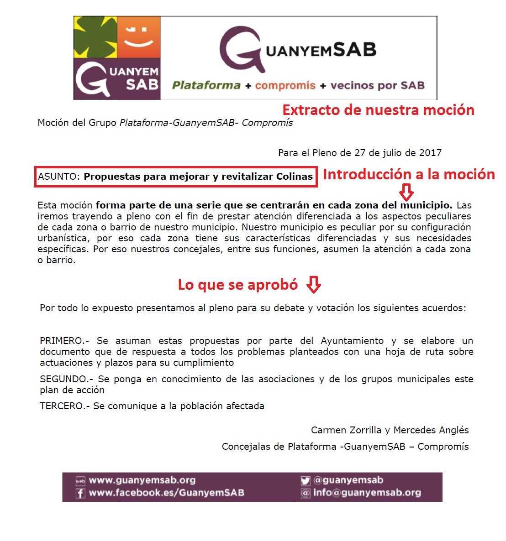 MOCION REVITALIZAR COLINAS extracto